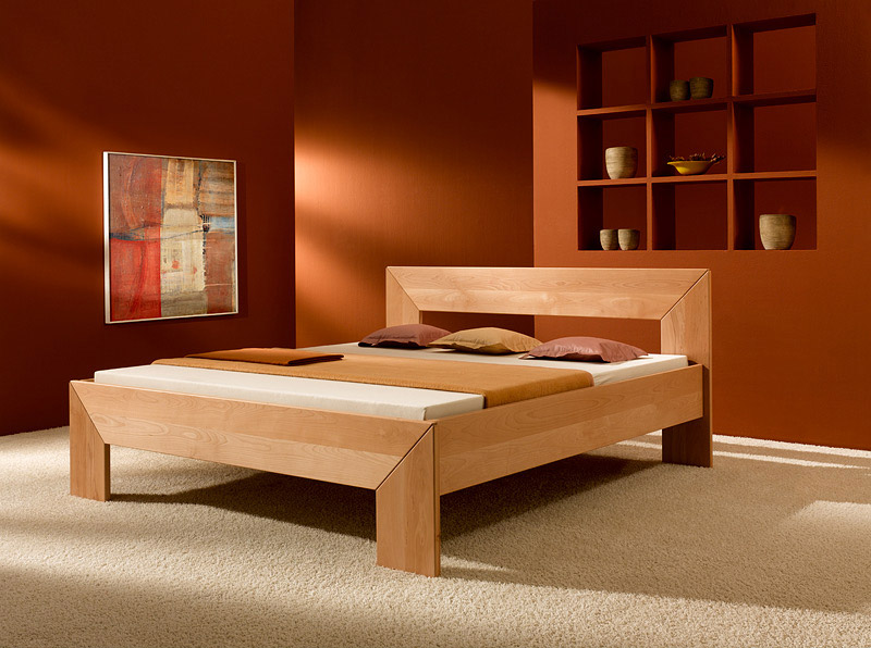 bed frame made from solid beechwood purenature. Black Bedroom Furniture Sets. Home Design Ideas