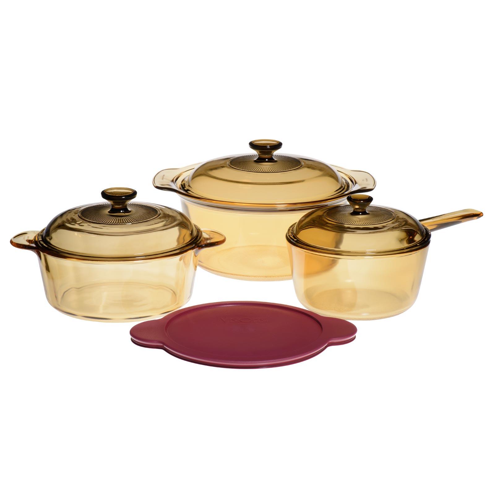 Glass Ceramic Pot Set 6 Pieces Purenature